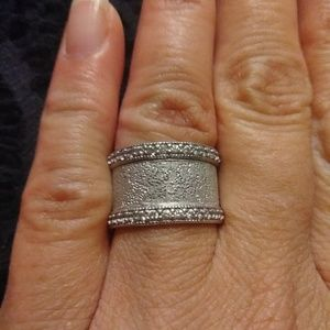 Sterling silver 925 CZ eternity band
